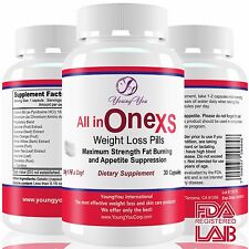 All in One Weight Loss Pills, Fast Active Fat Burner Appetite suppressant  30ct