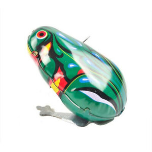 Gift Frog Wind Up Toy Frog Action Figures Jumping Iron Frog Toy Clockwork