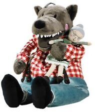 NEW IKEA Lufsig BIG Soft Toy Bad Wolf & Granny from Little Red Riding Hood 45cm