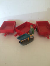 3 G-scale Utility Trailers, Red, For LGB, USA, Bachmann, Aristocraft    --NEW