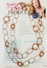 Premier Designs Jewelry ELEMENTAL Antiqued Copper Plated Necklace. Length 43''