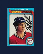 Pat Hughes signed Montreal Canadiens 1979 Topps hockey card