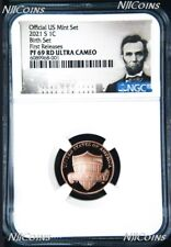 2021 S -BIRTH SET Version- Proof LINCOLN CENT Penny NGC PF69 RD First Releases