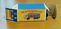 MATCHBOX 'REG. WHEELS' NO.4D, DODGE STAKE TRUCK, CUSTOMISED DISPLAY BOX ONLY