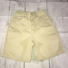 Vintage Lee Womens Shorts High Waisted Size 10 Soft Yellow Denim Waist Mom Jeans