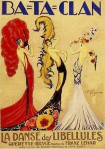 Bataclan Theatre  French Dancing Art Deco   Vintage Poster   A1, A2, A3