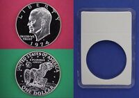 1976-S Proof 40/% Silver Eisenhower Ike Dollar With 2x2 Snap Flat Rate Shipping