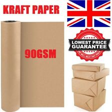 More details for brown kraft parcel paper for wrapping and packaging parcels strong rolls 90gsm