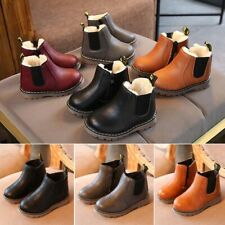 Kids Fur Lined Snow Boots Boys Girls Toddler Waterproof Warm Winter Shoes Size
