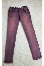 Mossimo Womens Purple Washed Slim Skinny Stretch Jeans Size 1
