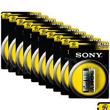 10 x SONY 9V batteries Ultra Heavy Duty Super Zinc Carbon 6F22 Transitor E-Block