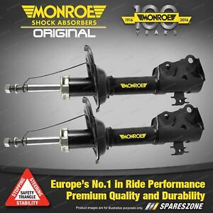 Front L+R Monroe Original Shock Absorbers for KIA MENTOR 1.5 1.6 1.8 Hatch 96-98