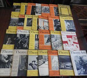 Theatre Arts magazine World War II era 1939-1946 lot x27 illustrated w/ adverts