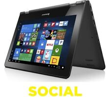 "Lenovo Yoga 300 11.6"" Touchscreen Laptop Intel Pentium N3720 64GB Windows 10"