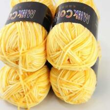 Sale New 4ballsx50g Soft Cotton Baby Yarn Hand dyed Wool Socks Scarf Knitting 02