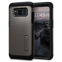 Galaxy S8 Active Spigen® [Tough Armor] Gunmetal Dual Layer Shockproof Cover Case