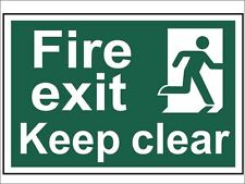 Scan - Fire Exit Keep Clear - PVC 300 x 200mm