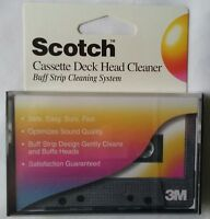 3M Scotch Cassette Deck Head Cleaner Buff Strip Cleaning System NEW Sealed!
