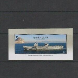 Gibraltar 2018 Ships Visit of HMS Queen Elizabeth £3 fv  M/Sheet MNH per scan