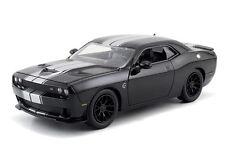 1:24 BLACK w SILVER 2015 DODGE CHALLENGER SRT HELLCAT JADA  DIE-CAST CAR