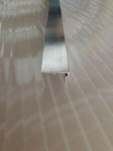 U-Abschlussprofil für 16 mm Stegplatten, Aluminium, pressblank, 1200 mm lang