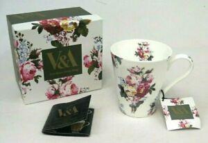 V&A Victoria & Albert Bone China Mug Floral Bouquet MGB1534 Boxed