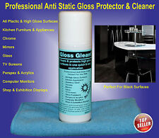 2 Gloss-Gleam Anti Static Gloss Surface Protector & Cleaner, Kitchen. TV. glass.