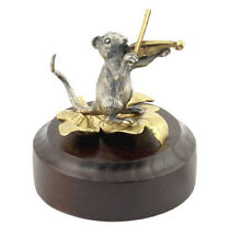 "Silver figurine ""The rat plays the violin"""