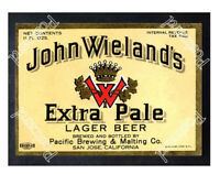 Historic John Wieland's Extra Pale Lager Beer 1930s Beer Ad Postcard