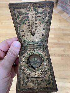 antique compass pocket
