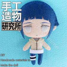 NEW Naruto Hyuga Hinata Anime Handmade Plush Doll Cute Toy Keychain Bag Girl