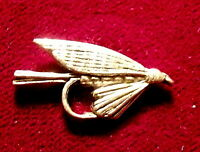 Superb Pewter Trout Fly Fishing Brooch Pin