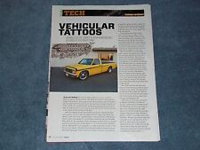 How To Tech Info Article on Painting Custom Stripes on a Chevy S-10 Truck