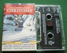 Pan Pipes Play Christmas inc. Jingle Bells White Christmas Cassette Tape TESTED