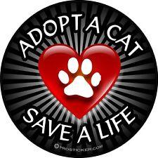 "1- 4"" Cat Paw Print Decal Sticker Adopt a Dog Save a Life 2145"