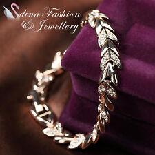 18K Rose Gold Plated Made With Swarovski Crystal Stylish Wheat Sheaf Bracelet