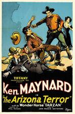 Arizona terror Ken Maynard vintage movie poster print