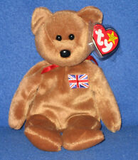 Ty Britannia the Bear Beanie Baby - Uk Exclusive - Mint with Near Perfect Tag