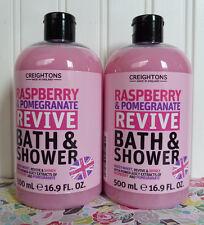 2 CREIGHTONS RASPBERRY POMEGRANATE REVIVE BATH & SHOWER CREAM BODY WASH 16.9 OZ