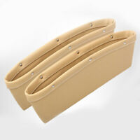 2Pcs PU Leather Car Catcher Box Caddy Seat Gap Slit Pocket Storage Organizer