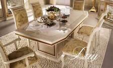 Esstisch Säulentisch Leonardo Rechteckig Ausziehbar Hochglanz Italienische Möbel