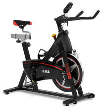 JLL Ic300 Pro Indoor Cycling Exercise Bike Direct Belt Driven 20kg Flywheel Wit