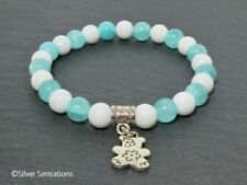 Silver Plated Natural Agate Costume Bracelets