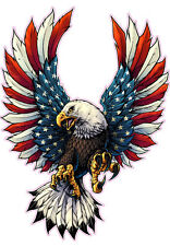 "Screaming American Flag Bald Eagle Decal 6"" Tall Free Shipping"