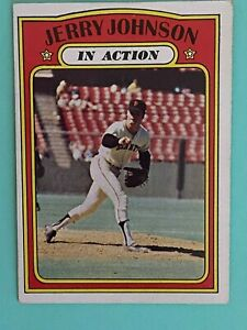 Topps 1972 #36 Jerry Johnson In Action - San Francisco Giants