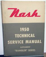1950 Nash Rambler Series Technical Service Shop Manual Supplement Repair