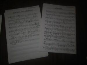 Blasorchester / Blasmusik  5 Musikstücke Polka, Walzer, Marsch  -aus Nachlass