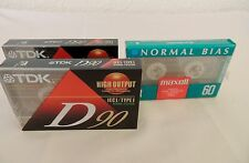 New listing Lot of Three New Sealed Cassettes: 2 Tdk D90 + 1 Maxell Ur 60