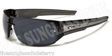 Sunglasses New Metal Sports Shades Wraps Xloop Men Women Black Silver XL442B