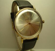 Luch de luxe wrist mens watch 23 Jewels Gold Plated USSR RARE Serviced and Oiled
